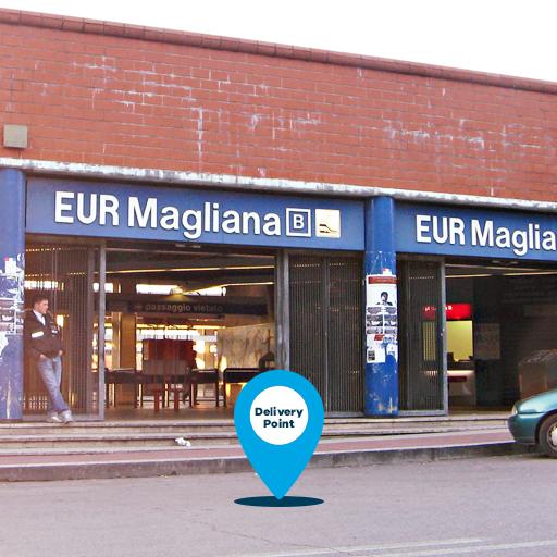 Roma negozio metro Magliana