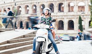 Roller Mieten in europäischen Städten