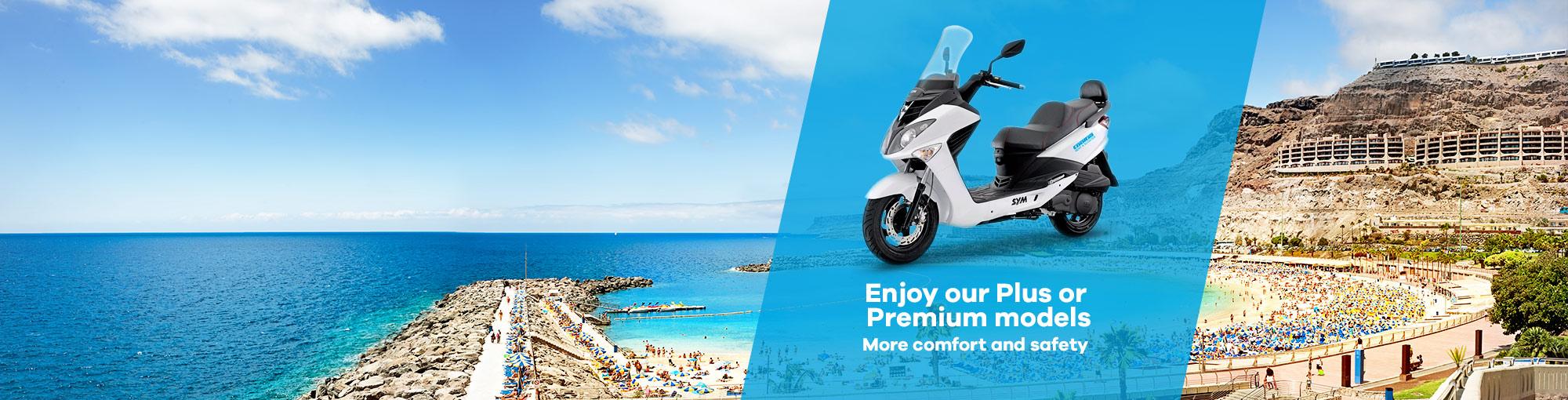 motorcycle rental plus and premium