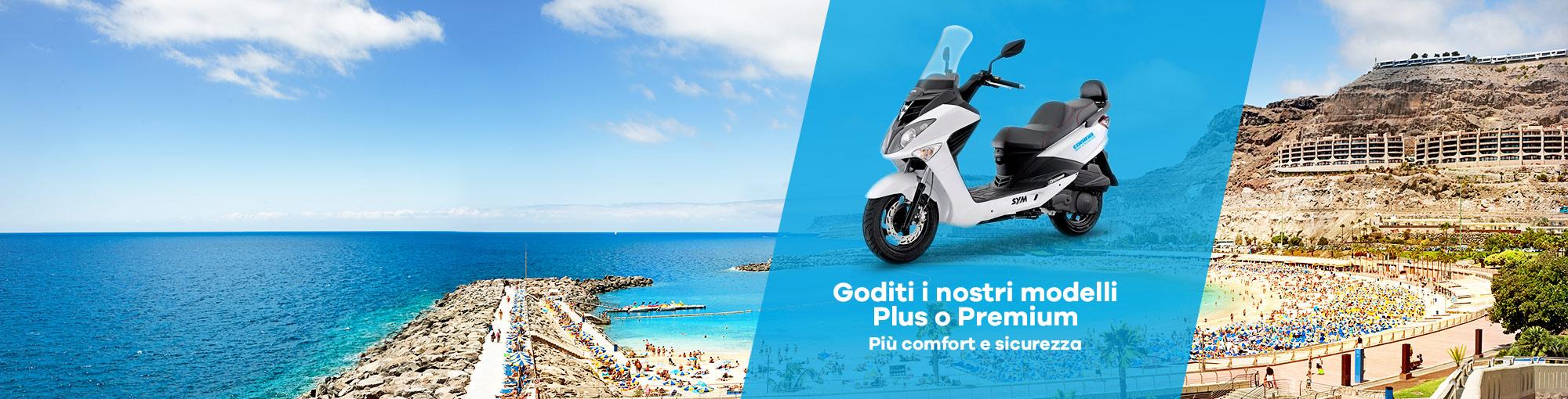noleggio moto plus e premium