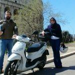 Il noleggio scooter a Roma con la vincitrice della Lotteria di San Valentino!
