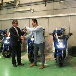 Polícia portuária aluga motas elétricas em Barcelona